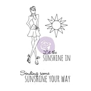 "Prima Marketing™ 4"" x 6"" Mixed Media Doll Cling Rubber Stamp, Sunshine Set"