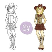 Prima Marketing™ Mixed Media Doll Cling Rubber Stamp, Becky Cowgirl