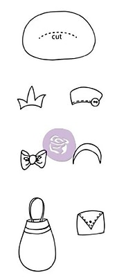 Prima Marketing™ Mixed Media Doll Cling Rubber Stamp, Boutique Accessories