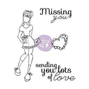 Prima Marketing™ Mixed Media Doll Cling Rubber Stamp, Lots Of Love Set