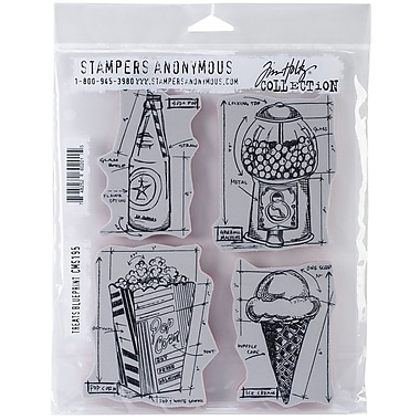 Stampers anonymous tim holtz 7 x 8 12 cling rubber stamp set stampers anonymous tim holtz 7 malvernweather Images