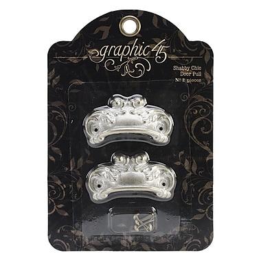 Graphic 45 Staples Ornate Metal Door Pulls, Shabby Chic