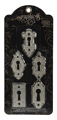 Graphic 45 Staples Ornate Metal Key Holes, Shabby Chic