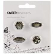 """Kaisercraft Treasures Metal Door Knob, Antique Brassm 3/4"""" x 3/4"""" x 1/2"""" - 1"""" x 1/2"""" x 1/2"""""""