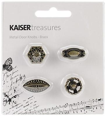 Kaisercraft Treasures Metal Door Knob, Antique Brassm 3/4