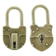 "Kaisercraft Treasures Metal Padlock, Antique Brass, 1 1/2"" x 3/4"" X 1/4"""