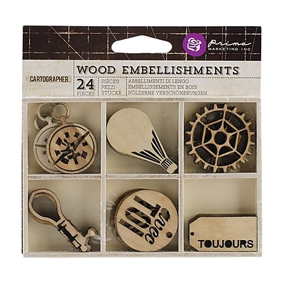 Prima Marketing™ Laser Cut Wood Icons, Cartographer
