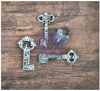 Prima Marketing™ Resin Icon Embellishment, Chalk Black Keys & Key/Lock Sets