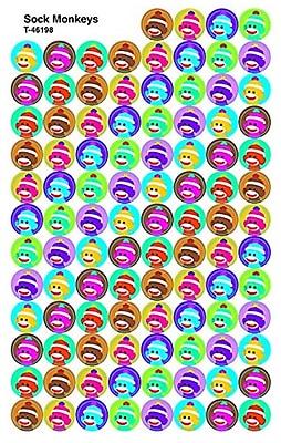 Trend Enterprises® Superspots® Sticker, Sock Monkeys, 800/Pack