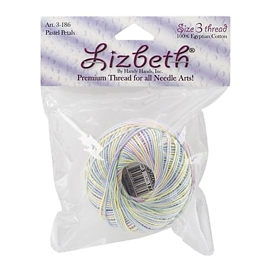 Handy Hands Lizbeth® Size 3 Cordonnet Cotton, Pastel Petals