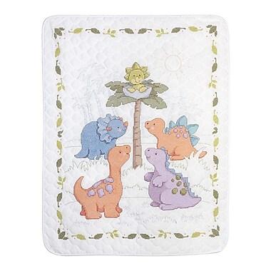 Plaid® Bucilla® Cuteasaurus Crib Cover Stamped Cross Stitch Kit