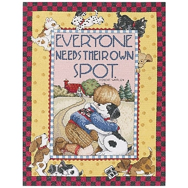 Plaid® Bucilla® Mary Engelbreit Everyone Needs Their Own Spot Counted Cross Stich Kit