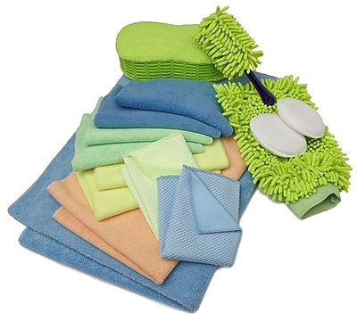 Zwipes Microfiber Deluxe Wash Wax & Dry Kit 12 Piece