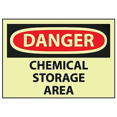 Danger, Chemical Storage Area, 10