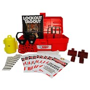 Centre de verrouillage électrique, tableau jaune complet, panier en treillis métallique, boîte à outils et son contenu, 16 x 14