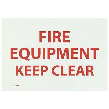 Fire, Fire Equipment Keep Clear, 7