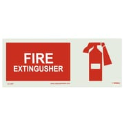 Fire, Fire Extinguisher, Graphic, 7X17, Adhesive Vinylglow
