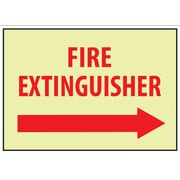 Fire, Fire Extinguisher, Right Arrow, 10X14, Adhesive Vinylglow