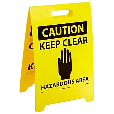 Floor Sign, Dbl Side, Caution Chemical Spill Keep Out Caution Keep Clear .., 20