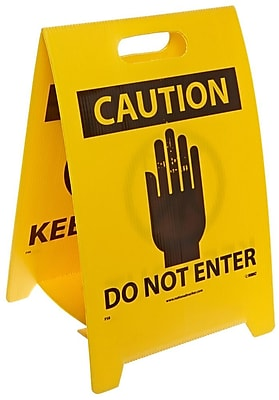 Floor Sign, Dbl Side, Caution Do Not Enter Caution Keep Out, 20X12