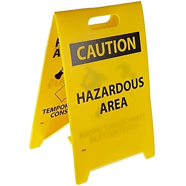 Floor Sign, Dbl Side, Pardon Our Appearance . . .Caution Hazardous Area, 20