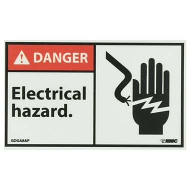 Glow Labels Danger, Electrical Hazard, 3