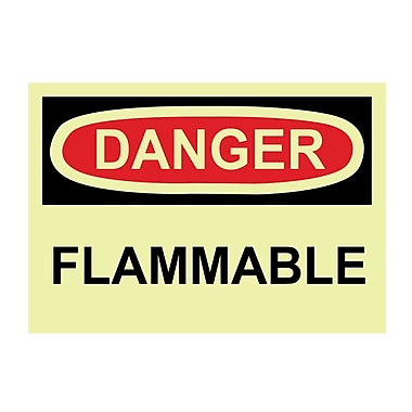 Glow Labels Danger, Flammable, 3