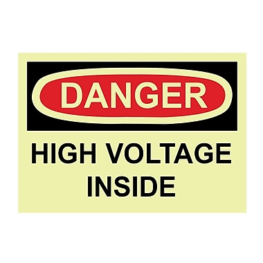Glow Labels Danger, High Voltage Inside, 3