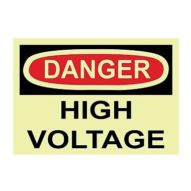 Glow Labels Danger, High Voltage, 3