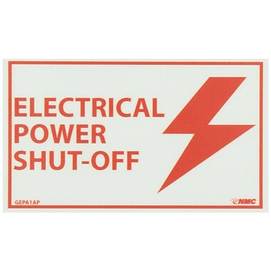 Glow Labels-Electrical Power Shut-Off, 3