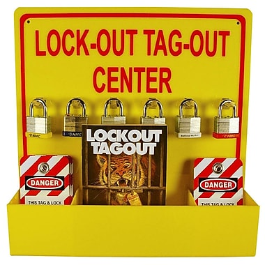 Lock-Out Tag-Out Center with 1 Pack Of Lotag 1 and 1 Handbook, 16