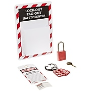 Lockout Center Micro Equipped, Information Sign