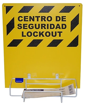Loto,Electrical Lockout Bilingual, Backboard And Rack, 20X14