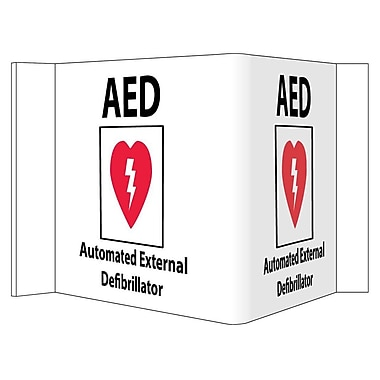 Visi Sign, AED with Graphic, 8