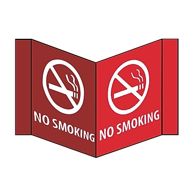 Visi Sign, No Smoking, White, 8