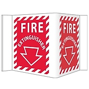 Visi, Fire Extinguisher, 5.75X8.75, PVC Plastic
