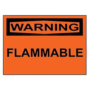 Warning, Flammable, 3
