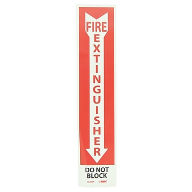 Fire Extinguisher, Do Not Block, 18