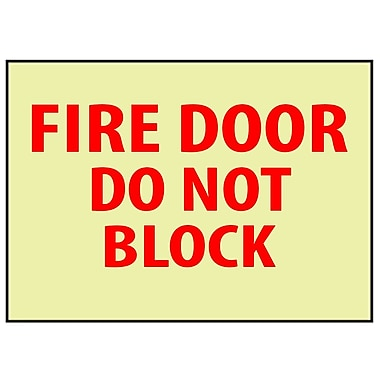 Fire, Fire Door Do Not Block, 10