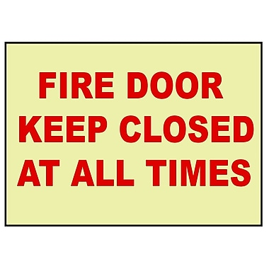 Fire, Fire Door Keep Closed At All Times, 10