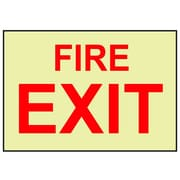 Fire, Fire Exit, 10X14, Adhesive Vinylglow