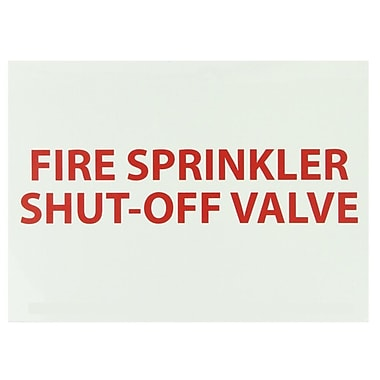 Fire, Fire Sprinkler Shut-Off Valve, 10
