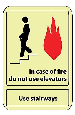 In Case Of Fire Do Not Use. . ., 14X10, Adhesive Glow