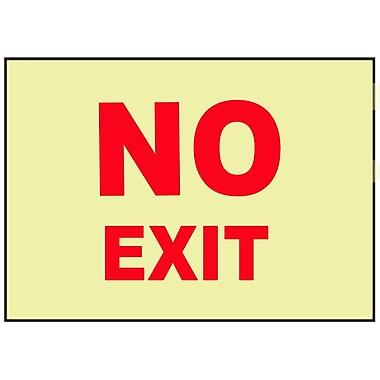 No Exit, 10X14, Adhesive Vinylglow