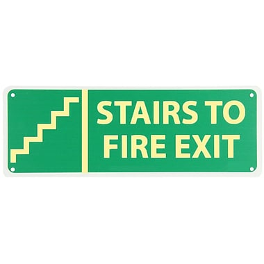 Stairs To Fire Exit with Graphic, 5