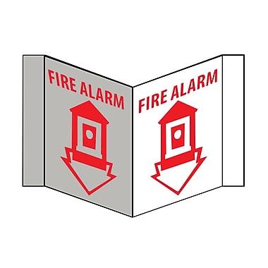Visi Sign, Fire Alarm, White, 8