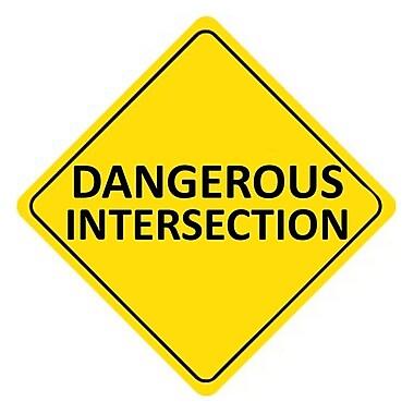 Dangerous Intersection, 24X24, .080 Egp Ref Aluminum