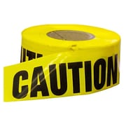 "Mutual Industries ""CAUTION"" Reinforced Barricade Tape, 3"" x 500', Yellow"