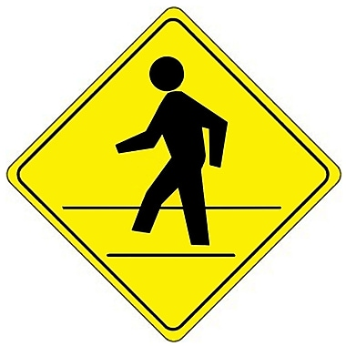 Pedestrian Crossing Graphic Diamond Shape, 24