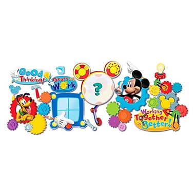 Eureka® Mickey Mouse Clubhouse® Bulletin Board Set, Working Together Is Better